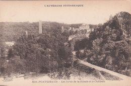 Cp , 63 , PONTGIBAUD , Les Bords De La Sioule Et Le Château - Frankreich