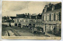 37 STE SAINTE RADEGONDE Le Restaurant HERIVAULT Quai Et Rue Thiers Attelages  écrite - ABIMEE     /D15-2017 - Autres Communes