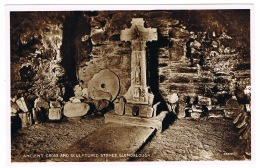 RB 1170 -  Real Photo Postcard - Ancient Cross & Sculptured Stones Glendalough Wicklow Ireland - Wicklow
