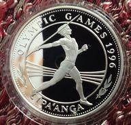 "TONGA 1 PAANGA 1994 SILVER PROOF ""OLYMPIC GAMES 1996"" (free Shipping Via Registered Air Mail) - Tonga"
