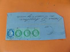 Le 13.10.17_DDL De Burie (16) GC 675,bande De 3 Du N°53 Plus 1 N°60,tarif 40c ,variété Impression Et Filet - Postmark Collection (Covers)