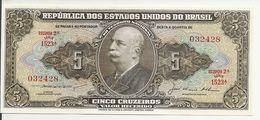 BRESIL 5 CRUZEIROS ND1953-59 UNC P 158 C - Brésil