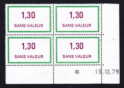 FRANCE FICTIF N° F220 ** Coin Daté 19.10.79 MNH, Neuf Gomme D'origine - TB - Phantomausgaben