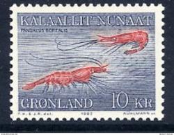 GREENLAND 1982 Shrimps MNH / **.   Michel 133 - Greenland