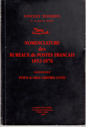 NOMENCLATURE DES BUREAUX DE POSTES FRANCAIS 1852-1876 - France