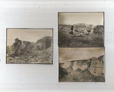HAM (SOMME) 3 PHOTOS DE LA CITADELLE EN RUINES GUERRE 1914 1918 - Lieux