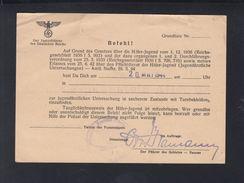 Dt. Reich Hitlerjugend Befehl 1944 - Documenti Storici
