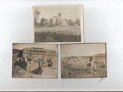 HAM (SOMME) 3 PHOTOS DES RUINES DE LA CITADELLE GUERRE 1914 1918 - Lieux