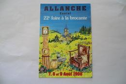 CPA 15 CANTAL ALLANCHE. 22è Foire à La Brocante, 7,8 Et 9 Août 1998. - Allanche