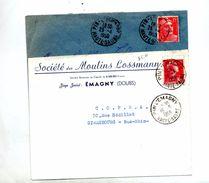 Lettre Cachet Pin L'emagny Sur Gandon Muller Entete Societe Moulin Lossmann - Marcophilie (Lettres)