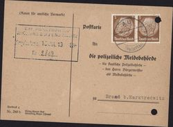Carte De Recherche De Personne Die Polizeiliche Meldebehörde Cachet Mairie Marktredwitz Guerre 40 World War II - Sonstige