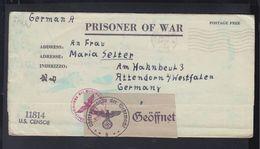 USA Kriegsgefangenenbrief 1944 Camp Perry Zensur - Germania