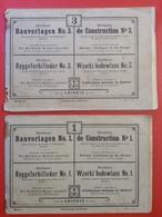 Bauvorlagen Richters Kunst Anstalt Rudolstadt Thüringen Ca. 1900 Leipzig 2 Bauvorlagen Für Steinbaukästen - Magazines