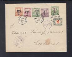 Hungary Cover 1918 Tax Esztelnek - Briefe U. Dokumente