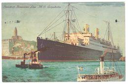 Cpa  Paquebot Swedish American Line, M.S. Gripsholm , New York Direct Gothenburg ( Postée D'Helsinki, Finlande ) - Steamers