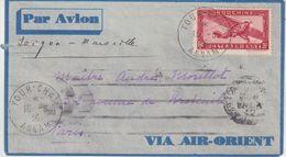 """INDOCHINE : PAR AVION . DE """" TOUR - CHAM """" . POUR PARIS . 1936 . - Indochina (1889-1945)"""