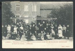 +++ CPA - LUBBEEK - Pensionnat De N-D Du St Rosaire...Religieuses Dominicaines - Cour Des élèves - Carrousel   // - Lubbeek