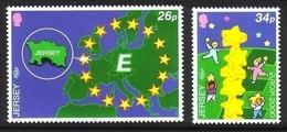 JERSEY MI-NR. 922-923 ** EUROPA 2000 - STERNE - 2000