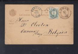 Hungary Croatia Stationery Uprated Lipik 1892 To Belgium - Croatia