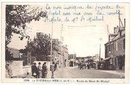 Cpa Le Vivier Sur Mer - Route Du Mont Saint Michel - Autres Communes