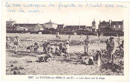 Cpa Le Vivier Sur Mer - Les Jeux Sur La Plage - Autres Communes