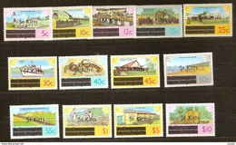 Saint Kitts Saint-Christophe 1980 Yvert N° 424-436 Surchargés  *** MNH Cote 12,50 Euro - St.Kitts-et-Nevis ( 1983-...)