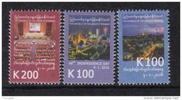 Myanmar 2016 The 68th Independent Day 3v MNH Mint Set - Myanmar (Burma 1948-...)