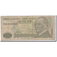 Turquie, 10 Lira, 1970, KM:192, B - Turkey
