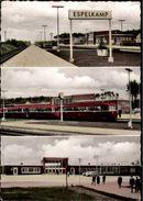! 1962 Ansichtskarte Bahnhof, Espelkamp, Eisenbahn, Schienenbus, NRW - Bahnhöfe Mit Zügen