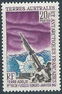 FSAT  1968   Sc#29   20fr Rocket  MNH**  2016 Scott Value $26 - Espacio