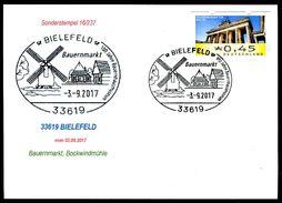 83159) BRD - Karte - SoST 33619 BIELEFELD Vom 03.09.2017 - Bauernmarkt, Bockwindmühle - Machine Stamps (ATM)