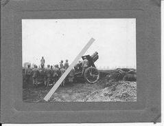1917-1918 Polygone De Saint-dizier Tir D'un Canon De 220mm à Tir Rapide 1 Photo 1914-1918 Ww1 14-18 - Guerre, Militaire