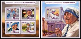 MALDIVES 2017 - Mother Teresa. M/S + S/S Official Issue - Mother Teresa