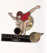 Pin's -    BOWLING - LILLE FRANCE 1991 - Bowling