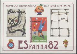Soccer World Cup 1982 - SAO TOME - S/S De Luxe MNH** Karton - Coupe Du Monde