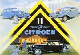 Citroen Traction Avant 11 - 3 Models - Légère-Normale-Familiale    -  CPM - Voitures De Tourisme
