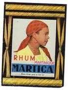 "Ancienne Etiquette Rhum Martinique Martica  ""visage Femme"" - Rhum"