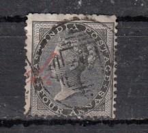 Inde Victoria  1856  YT N°15  4a Noir - Inde (...-1947)