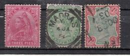 Inde Victoria  1892  3 Valeurs - Inde (...-1947)