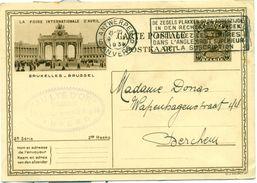 Carte-postale Illustrée - Geïllustreerde Postkaart Nr. 10.6  La Foire International D'avril - 1934 - Stamped Stationery
