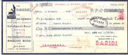 Cambiale Con Marca Da Bollo:S.A.P.I.D.I. Rinaldo Rossi - Milano 1940 Pastificio - Cambiali