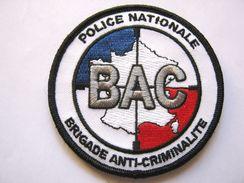 INSIGNE TISSUS PATCH POLICE NATIONALE LA BAC SUR VELCROS - Police