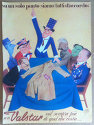 Pubblicità 1951 - Valstar - Caricature Politiche Firmata Carletto - Rifilatura - Pubblicitari