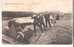 Gruss Vom Schiessplatz Wahn (Porz-Köln)-1916-Soldaten-Fuss-Artillerie Regt. Nr 18-Bronze Mörser (Canon-Kanone-Kanon) - Koeln
