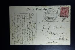 Italy : Carte Postale 1910 Smirne To Brunn Austria - Uffici D'Europa E D'Asia