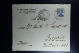 Italy : Front Of A Cover 1912 Smirne To Firenze - Bureaux Etrangers