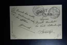 Italy : Post Card 1912 Smirne To Firenze - Bureaux Etrangers