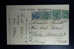 Italy : Carte Postale 1921 Smirne To Firenze Mixed Stamps Chameaux Combattants - Bureaux Etrangers