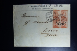 Italy : Company Cover 1922 Smirne Milano To Lecco With 4-block And Cancels Posta Militaire - Bureaux Etrangers