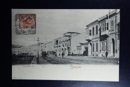 Italy : Carte Postale 1908 Smirne To Constantinopolis - Bureaux Etrangers